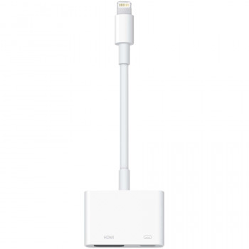 Apple Lightning/HDMI A/V Cable for Audio/Video Device, TV, Projector, iPad, iPod, iPhone