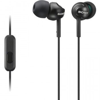 Sony MDREX110APB Wired 9 mm Stereo Earset - Earbud - In-ear - Black
