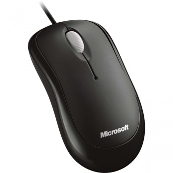 Microsoft Mouse - Optical - Cable - 3 Button(s) - Black