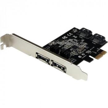 StarTech.com 2 Port PCI Express SATA 6 Gbps eSATA Controller Card - Dual Port PCIe SATA III Card - 2 Int/2 Ext
