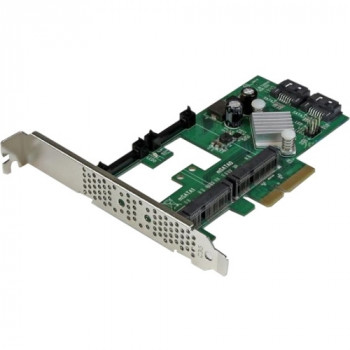 StarTech.com 2 Port PCI Express 2.0 SATA III 6Gbps RAID Controller Card w/ 2 mSATA Slots and HyperDuo SSD Tiering