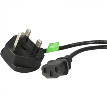 StarTech.com Standard Power Cord - 3 m Length - IEC 60320 C13 - BS 1363