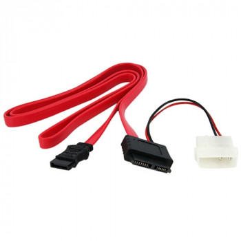 StarTech.com 36in Slimline SATA to SATA with LP4 Power Cable Adapter