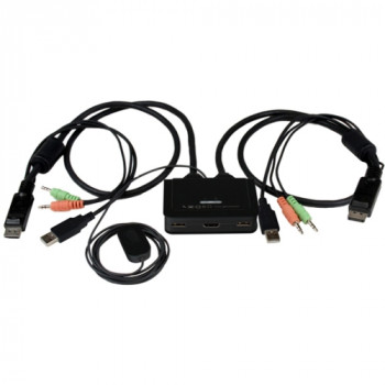 StarTech.com 2 Port USB HDMI Cable KVM Switch with Audio and Remote Switch - USB Powered