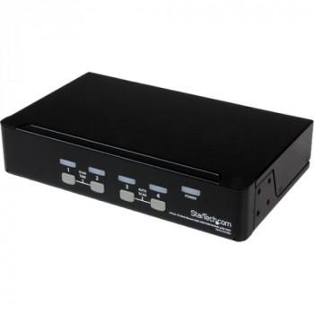StarTech.com 4 Port 1U Rackmount USB KVM Switch with OSD