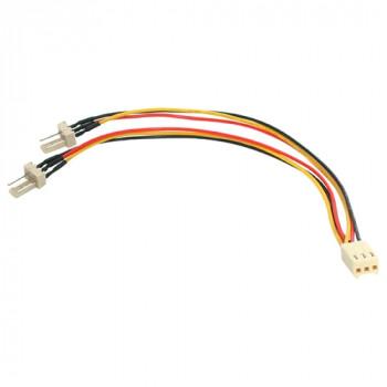 StarTech.com TX3 Fan Power Splitter Cable - Fan power splitter - 3 pin internal power (F) - 3 pin internal power (M) - 6in