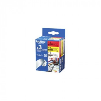 Brother 31M3 Label Tape - 12 mm Width x 8 m Length - 3 Roll