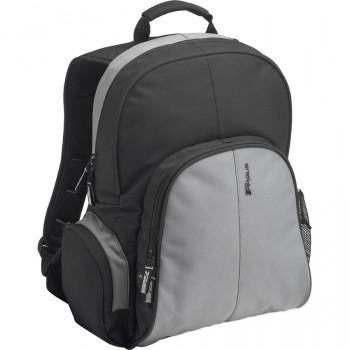 Targus TSB023EU Essential Laptop Computer Backpack fits 15.4 - 16 inch laptops, Black/Grey