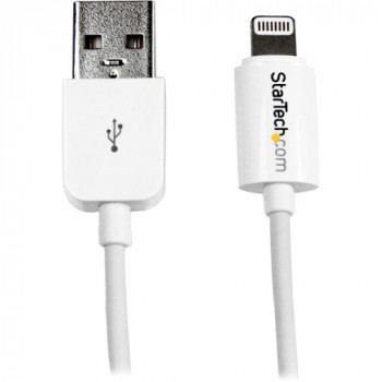 StarTech.com 0.3m (11in) Short White Apple 8-pin Lightning Connector to USB Cable for iPhone / iPod / iPad