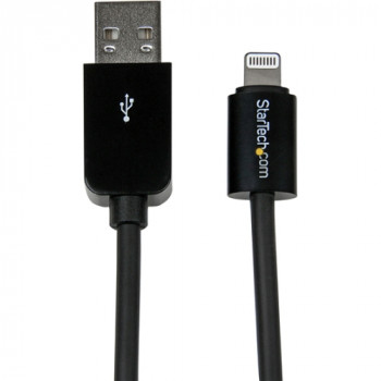 StarTech.com 3m (10ft) Long Black Apple 8-pin Lightning Connector to USB Cable for iPhone / iPod / iPad
