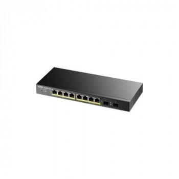 ZyXEL GS1900-10HP - switch - 8 ports - smart - desktop, wall-mountable(GS1900-10HP-EU0101F)