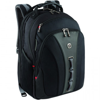 "Wenger 600631 LEGACY 16"" Laptop Backpack , Airport friendly with case stabalising platform in Black {24 Litres}"