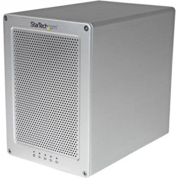 "StarTech.com 4-Bay Thunderbolt 2 Hard Drive Enclosure with RAID Quad-Bay 3.5"" HDD RAID Enclosure - Sleek, Ultra Compact for Mac or PC"