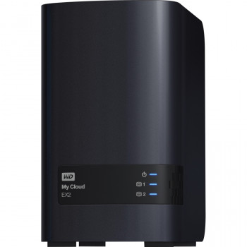 WD My Cloud EX2 WDBVBZ0080JCH-EESN 2 x Total Bays NAS Server - Tower