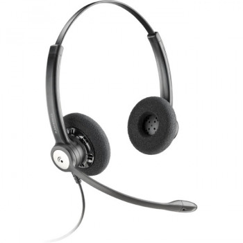 Plantronics Entera HW121N Wired Stereo Headset - Over-the-head - Supra-aural - Black
