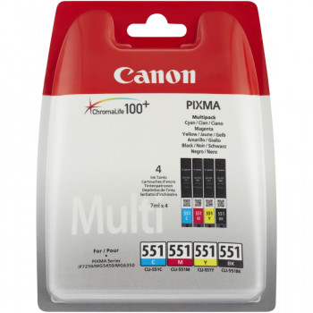 Canon CLI-551 Ink Cartridge - Black, Cyan, Yellow, Magenta