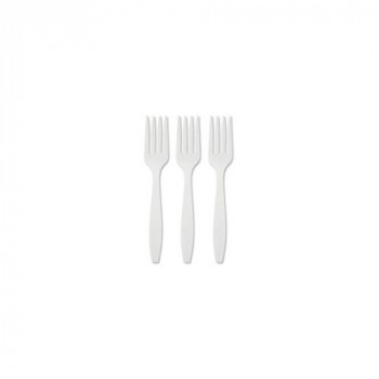Plastico Plastic Forks, Pack of 100, White