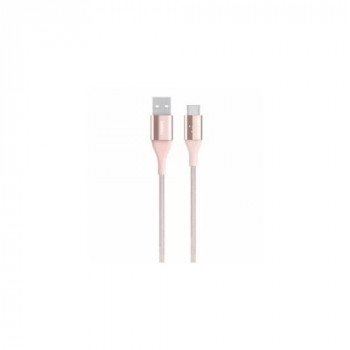 MIXIT - DURATEK BELKIN USB-C TO USB-A CABLE DUPONT KEVLAR 1.2M 4FT FOR SAMSUNG LG HTC GOOGLE HUAWEI (ROSE)