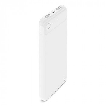 Belkin Boost Charge Power Bank 10K with Lightning Connector (MFI-Certified 10000 mAh Lightning Portable Charger for iPhone/iPad), White
