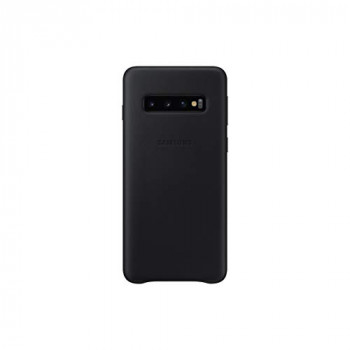 Samsung Original Galaxy S10 Protective Leather Back Cover Case, Black