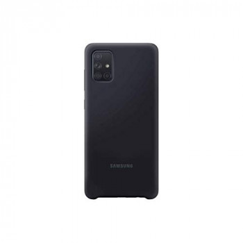 Samsung Original Galaxy A71 Soft Touch Silicone Cover/Mobile Phone Case - Black