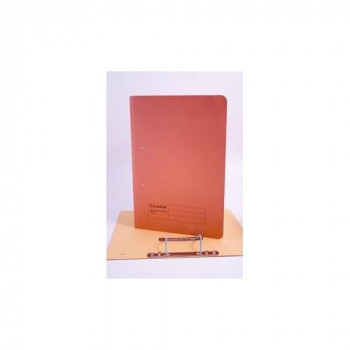 Guildhall Transfer Spring File 315gsm Back Pocket Foolscap Orange 211/9063Z [Pack 25]