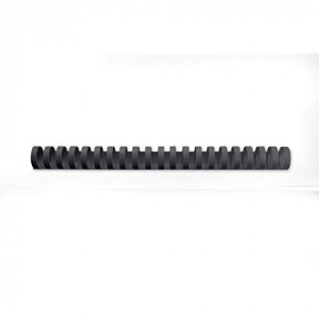 GBC CombBind Binding Combs, 25 mm, 225 Sheet Capacity, A4, 21 Ring, Black, Pack of 50, 4028182