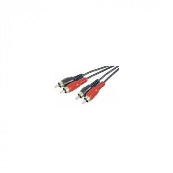 Connect 1.80 m 2 x RCA Male/Male Stereo Audio Cord - Black