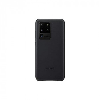 Samsung Original Galaxy S20 Ultra 5G Leather Cover/Mobile Phone Case - Black