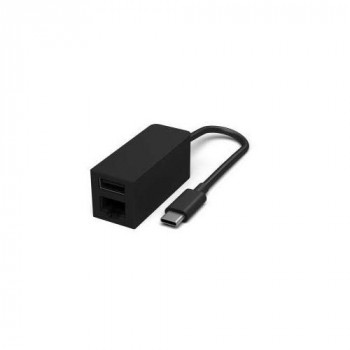 Microsoft JWM-00002 RJ-45, USB 3.1 interface cards/adapter - Interface Cards/Adapters (USB Type-C, RJ-45,USB 3.1, Black, 0.16 m, Microsoft Surface)