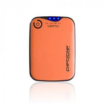 Veho Pebble Verto Power Bank | Portable Powerbank | Smartphone Charger| iPhone Charger | Samsung Charger | Battery Pack, 3,700mAh - Orange (VPP-201-CO)