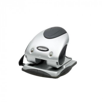 Rexel Precision P240 2 Hole Punch Black/Silver 40 Sheet Capacity and Retractable Paper Guide