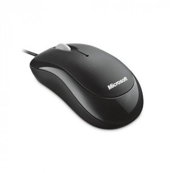 Microsoft 4YH-00007 Mouse - Optical - Cable - 3 Button(s) - Black
