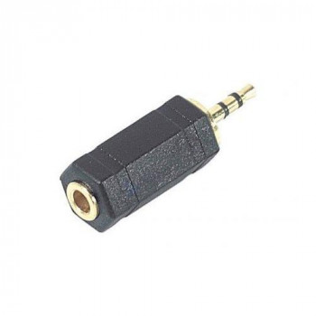 Stereo audio adapter 3.5-mm female to 2.5-mm jack male