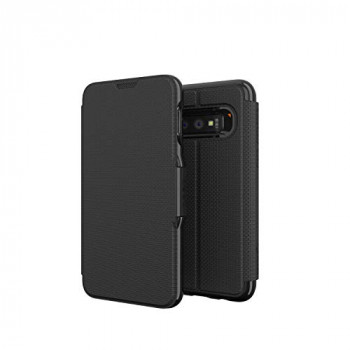 GEAR4 Oxford Folio Designed for Samsung Galaxy S10e Case, Advanced Impact Protection by D3O, Booklet Case - Black