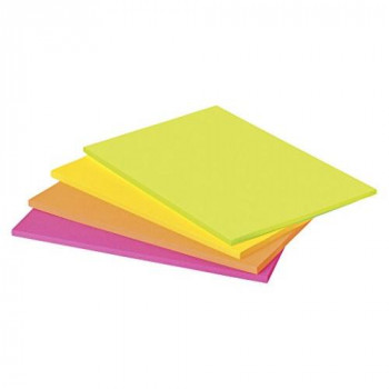Post-It 6845-SSP 200 mm x 149 mm Sticky Meeting Notes Neon Green/Pink/Orange/Ultra Yellow - 4 Pads