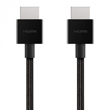 Belkin Ultra HD High Speed HDMI Cable (2018) ? 6.6 ft/2 m 4K HDMI Cable, Supports 4K/120 Hz and 8K/60 Hz, Dolby Vision/HDR 10 Compatible, 48 Gbps
