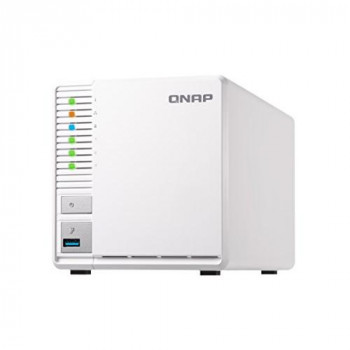 QNAP TS-328 12TB 3 Bay NAS Solution | Installed with 3 x 4TB Western Digital Red Drives (GDPR Compliant)