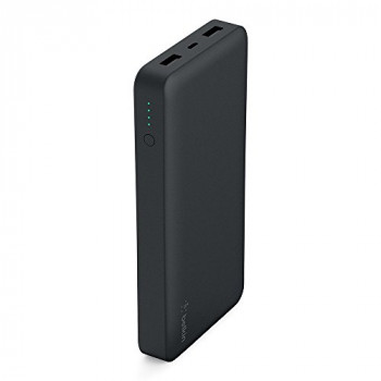 Belkin Pocket Power Bank 15000mAh Fast Portable Charger (Certified Safety) for iPhone X/8/7, iPad, Samsung Galaxy S9/S8 /S7, Black