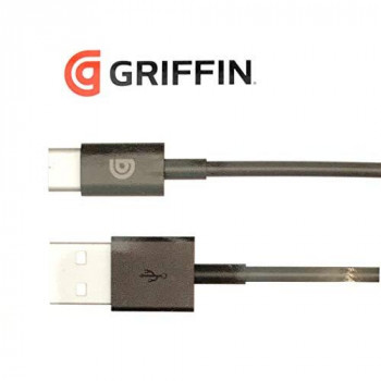 Griffin 1M Charge/Sync Data Cable with Type USB Type C Connector (3.2ft) - Black