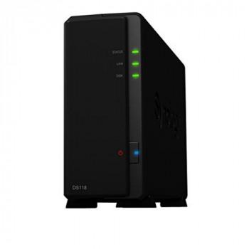 Synology DS118 1TB (1 x 1TB WD RED) 1 Bay Desktop NAS Unit