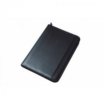 Collins Conference Folder with Zipper - Blk