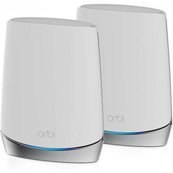 NETGEAR Orbi Whole Home Tri-Band Mesh WiFi 6 System (RBK752) Router with 1 Satellite Extender, Coverage up to 4,000 sq. ft. and 40+ Devices, Mesh AX4200 WiFi 6 (Up to 4.2Gbps)