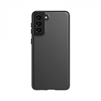 tech21 EvoSlim for Samsung S21 + (Plus) 5G - Germ Fighting Antimicrobial Phone Case with 8 ft. Drop Protection, Charcoal Black