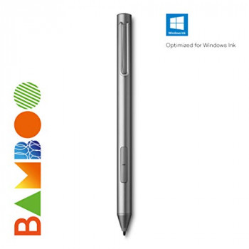 Wacom Active Stylus Bamboo Ink 2ND Generation Grey 4, 096 Pressure Levels Compatible with Touchscreen Devices with Microsoft Windows 10 and Windows Ink Certification