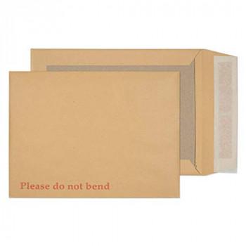 Blake Purely Packaging 241 x 178 mm Board Back Pocket Peel & Seal Envelopes (11935) Manilla - Pack of 125