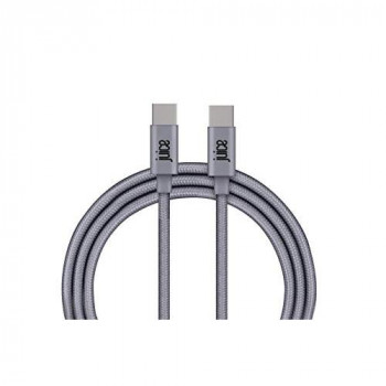 Juice USB Type-C to Type-C Braided Charge and Sync Cable, 1M, Grey