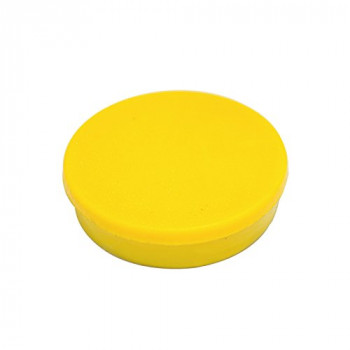 Bi-Silque 30 mm Round Magnet - Yellow (Pack of 10),IM130209