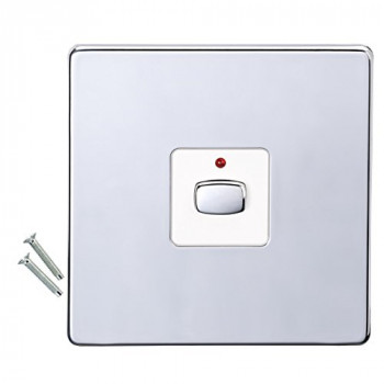 Energenie MIHO076 Alexa Compatible 1-Gang Mi-Home Dimmer, Chrome Polished