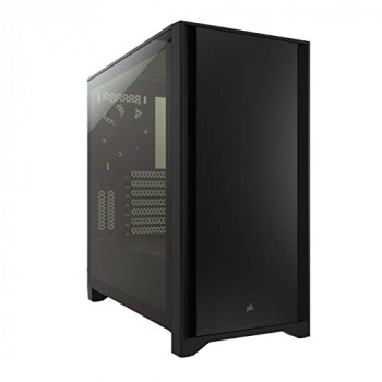 Corsair 4000D Tempered Glass Mid-Tower ATX Case (Solid Steel Front Panel, Tempered Glass Side Panel, RapidRoute Cable Management System, Spacious Interior, Two Included 120 mm Fans) Black